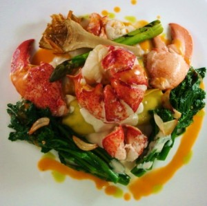 Garlic Butter Poached Maine Lobster